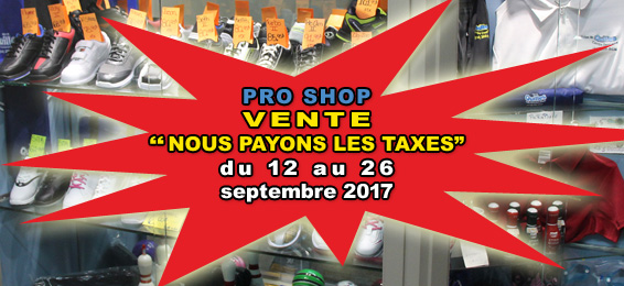 Pro Shop STaxes Une